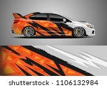 car decal vector  graphic... | Shutterstock .eps vector #1106132984