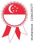singapore award ribbon vector... | Shutterstock .eps vector #1106135177