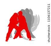 judo kid vector background...   Shutterstock .eps vector #1106137211
