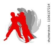 judo kid vector background...   Shutterstock .eps vector #1106137214