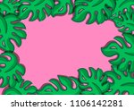 tropical leaves fashionable... | Shutterstock . vector #1106142281