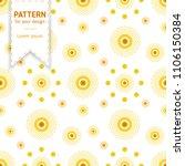 cute geometric flowers stylized ... | Shutterstock .eps vector #1106150384