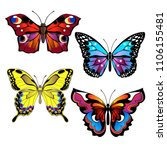 bright colorful butterflies.... | Shutterstock .eps vector #1106155481