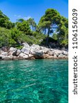crystal clear waters of the...   Shutterstock . vector #1106156039