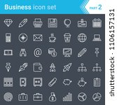 modern  stroked business icons... | Shutterstock .eps vector #1106157131