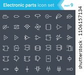 electric and electronic icons ... | Shutterstock .eps vector #1106157134