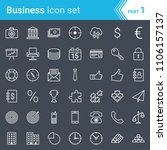 modern  stroked business icons... | Shutterstock .eps vector #1106157137