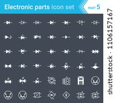electric and electronic icons ... | Shutterstock .eps vector #1106157167