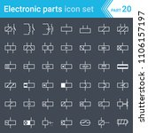 electric and electronic icons ... | Shutterstock .eps vector #1106157197