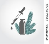 a bottle with fir tree...   Shutterstock .eps vector #1106160731