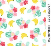 seamless pattern with tropical... | Shutterstock .eps vector #1106163017