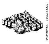 sketch belgian waffles with...   Shutterstock .eps vector #1106165237