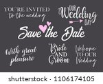 you are invited  save the date  ... | Shutterstock .eps vector #1106174105