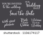 you are invited  save the date  ... | Shutterstock .eps vector #1106174117