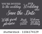 you are invited  save the date  ... | Shutterstock .eps vector #1106174129
