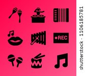 vector icon set about music...   Shutterstock .eps vector #1106185781