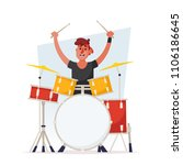 funny cartoon character. cute... | Shutterstock .eps vector #1106186645