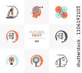 modern flat icons set of mental ... | Shutterstock .eps vector #1106192105