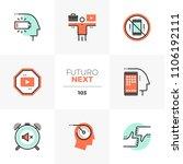 modern flat icons set of work... | Shutterstock .eps vector #1106192111