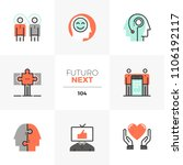 modern flat icons set of... | Shutterstock .eps vector #1106192117