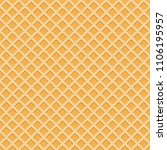 seamless wafer pattern  vector... | Shutterstock .eps vector #1106195957
