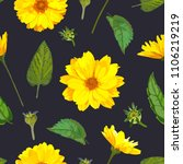 seamless pattern with... | Shutterstock . vector #1106219219