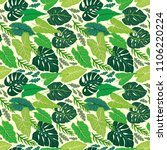 surface design with tropical... | Shutterstock .eps vector #1106220224