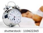 beautiful sleeping woman... | Shutterstock . vector #110622365