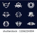 silver metal genuine quality... | Shutterstock .eps vector #1106224304