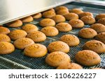 cakes on automatic conveyor... | Shutterstock . vector #1106226227