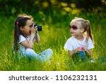 two children girl female  woman ... | Shutterstock . vector #1106232131
