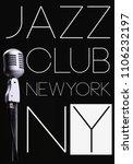 jazz club photo print poster... | Shutterstock . vector #1106232197