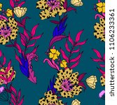 seamless floral pattern with...   Shutterstock .eps vector #1106233361