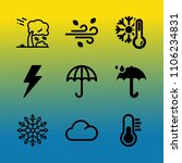 vector icon set about weather... | Shutterstock .eps vector #1106234831