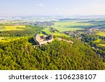 aerial view of castle tocnik.... | Shutterstock . vector #1106238107