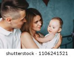 hugs of love. young parents and ...   Shutterstock . vector #1106241521