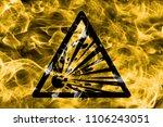 explosive substances hazard... | Shutterstock . vector #1106243051