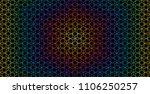 vector abstract rainbow sacred... | Shutterstock .eps vector #1106250257