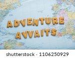 lettering inspiring let's... | Shutterstock . vector #1106250929