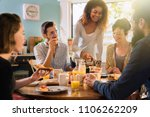 a group of multi ethnic friends ...   Shutterstock . vector #1106262209