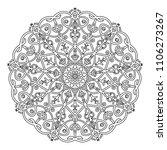 mandala design. vintage...   Shutterstock .eps vector #1106273267