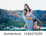 couple in love  enjoying the...   Shutterstock . vector #1106274209