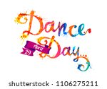dance day. april 29. hand... | Shutterstock .eps vector #1106275211