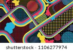 memphis pattern. abstract... | Shutterstock .eps vector #1106277974