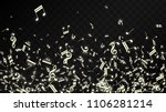 miracle musical notes on black... | Shutterstock .eps vector #1106281214