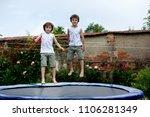 scute children  brothers ...   Shutterstock . vector #1106281349
