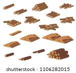 wooden logs. brown bark of... | Shutterstock .eps vector #1106282015