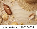 beach wear and accessories.... | Shutterstock . vector #1106286854