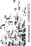 musical notes on white...   Shutterstock .eps vector #1106287271