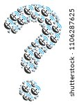 question shape composed with... | Shutterstock .eps vector #1106287625